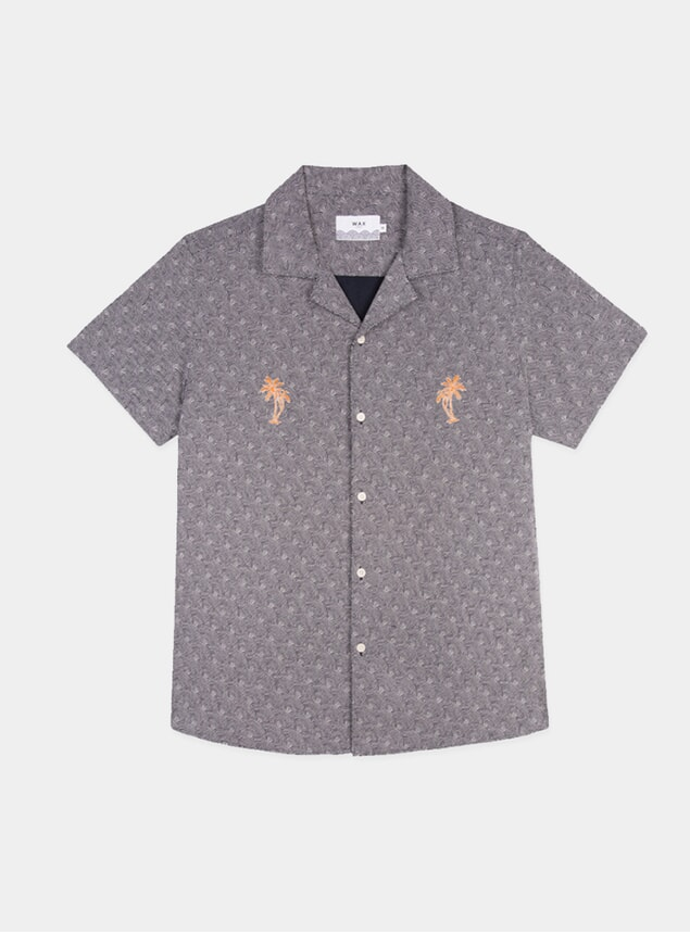 Rainbow Dotted Orange Didcot Short Sleeve Shirt