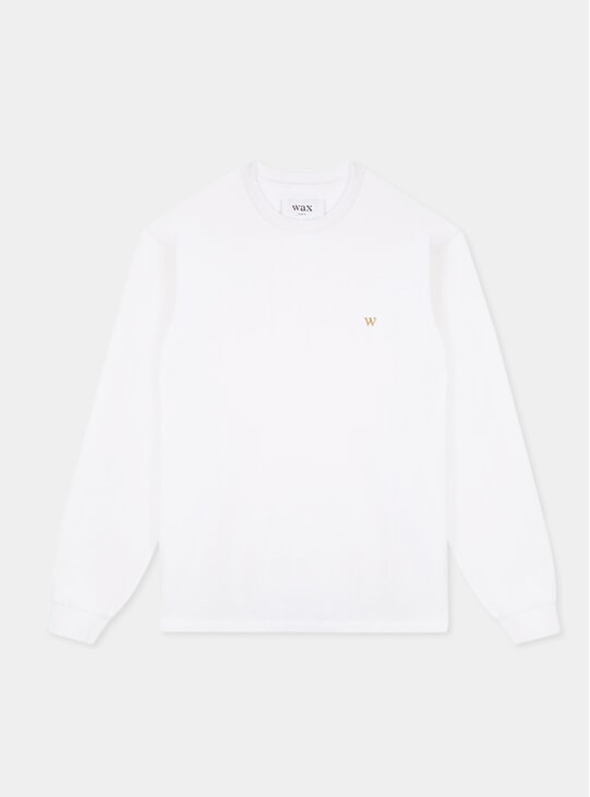White Hayden Long Sleeve T Shirt