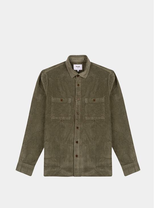 Dark Olive Big Cor Whiting Overshirt