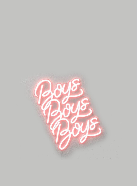 Boys, Boys, Boys 60cm x 56cm LED Neon Sign by The Boys Club Berlin