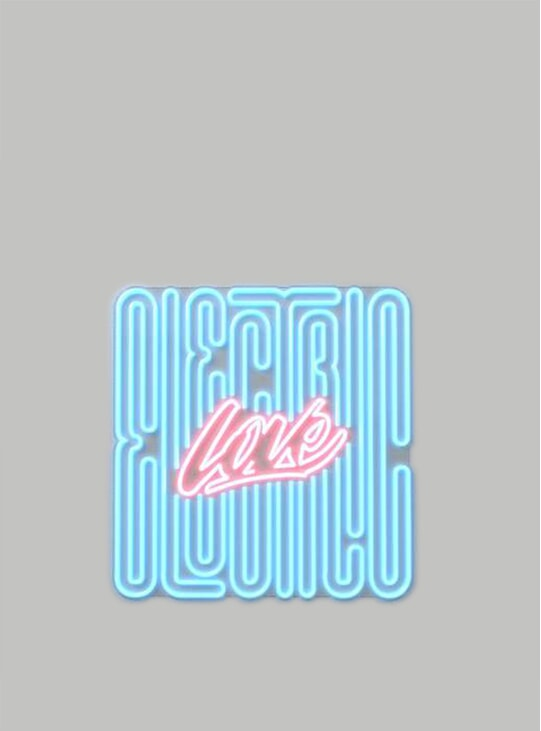 Electric Love 80cm x 84cm LED Neon Sign by Stephane Lopes