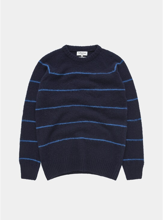 Navy / Blue Everyman Stripe Crew Neck