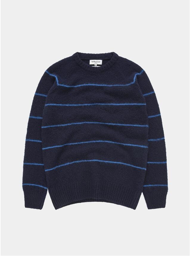 Navy / Blue Everyman Stripe Crew Neck