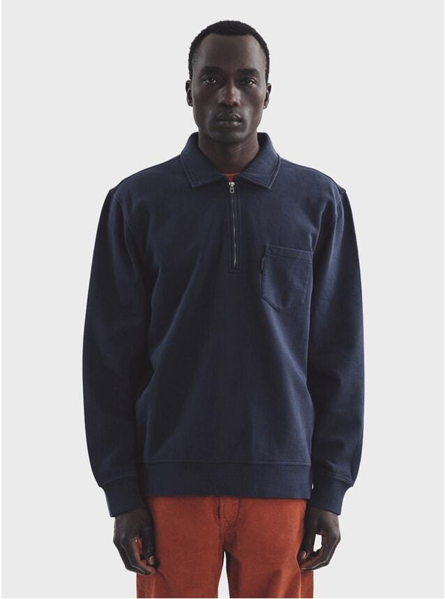 Navy Sugden Zip Sweatshirt