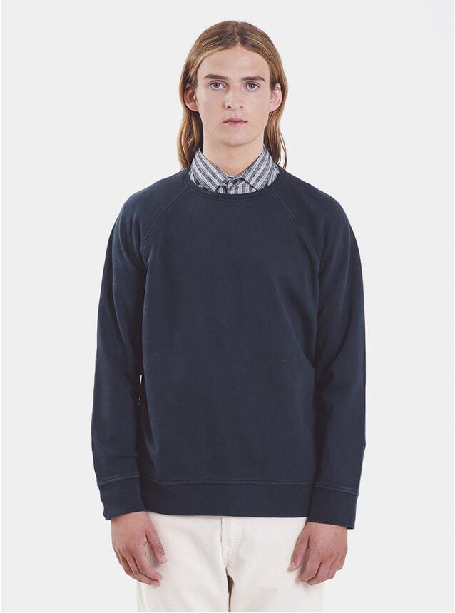 Navy Verlain Raglan LS T Shirt
