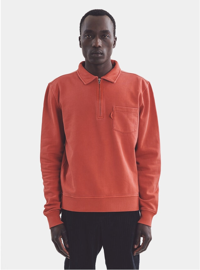 Rust Sugden Zip Sweatshirt