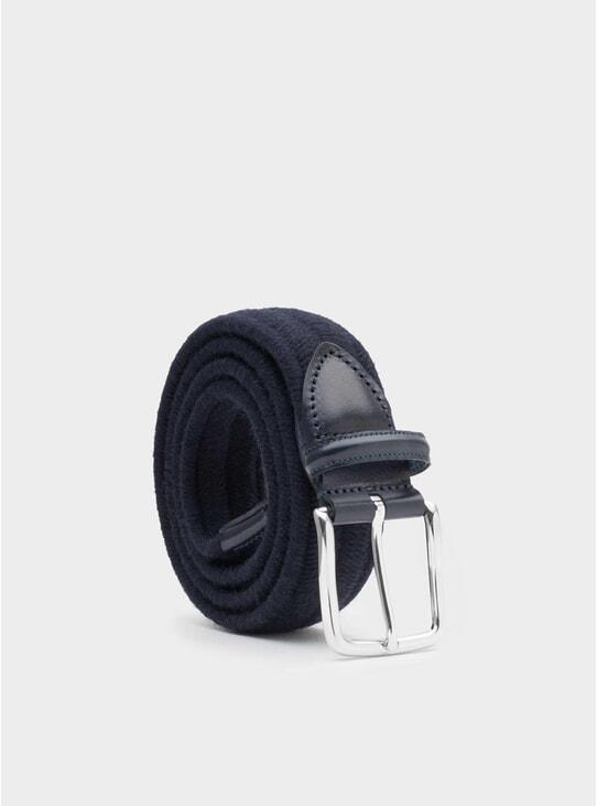 Blue Elastic Wool Fabiano Belt
