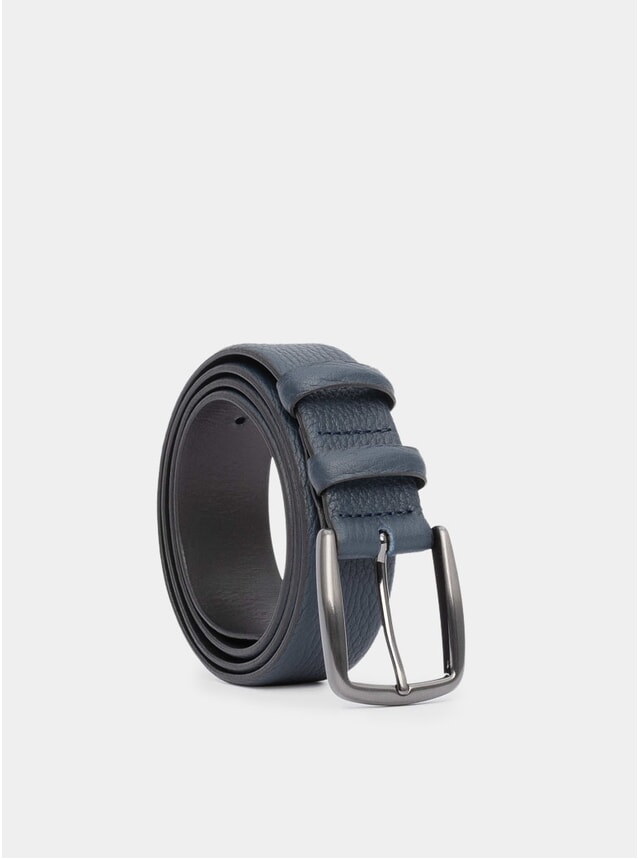 Blue Handmade Leather Gaston Belt