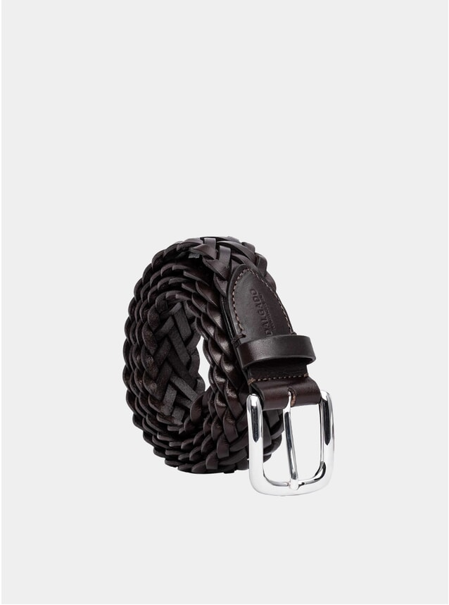 Brown Hand-Braided Leonardo Leather Belt