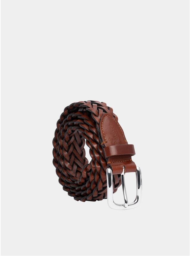 Cognac Hand-Braided Renato Belt