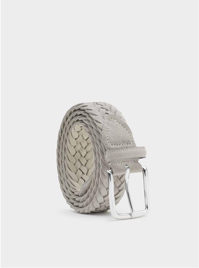 Grey Braided Suede Gianluca Belt