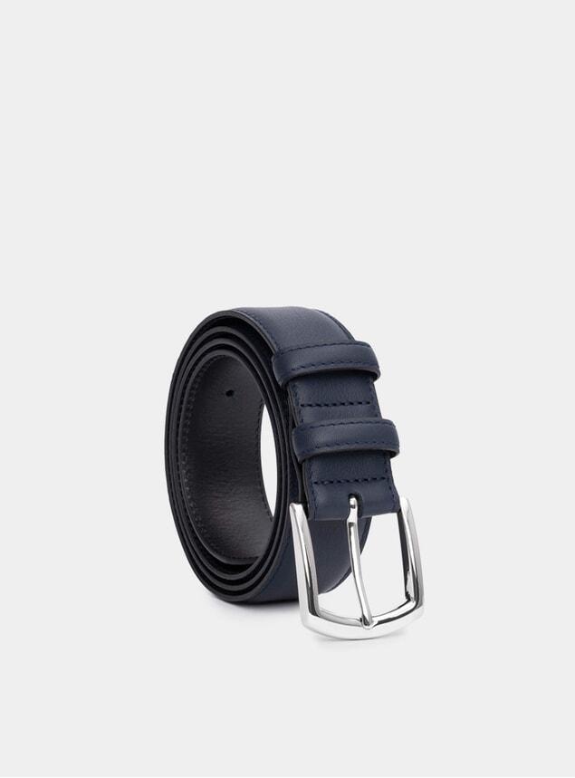 Navy Handmade Leather Belt