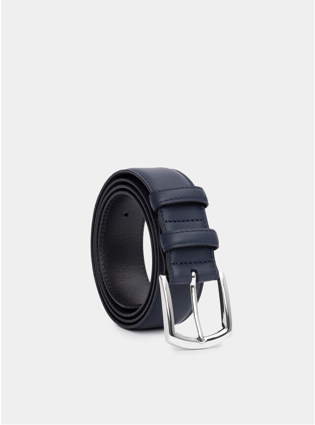 Navy Handmade Leather Belt