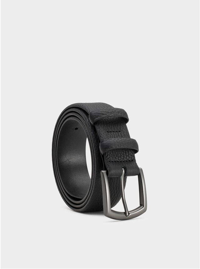 Black Bernard Leather Belt