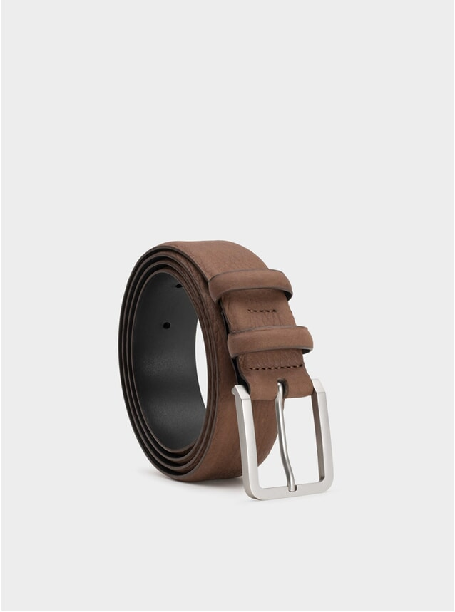Brown Mathis Leather Belt