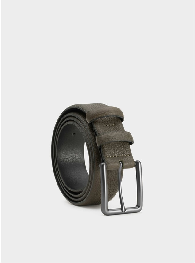 Olive Santiago Leather Belt