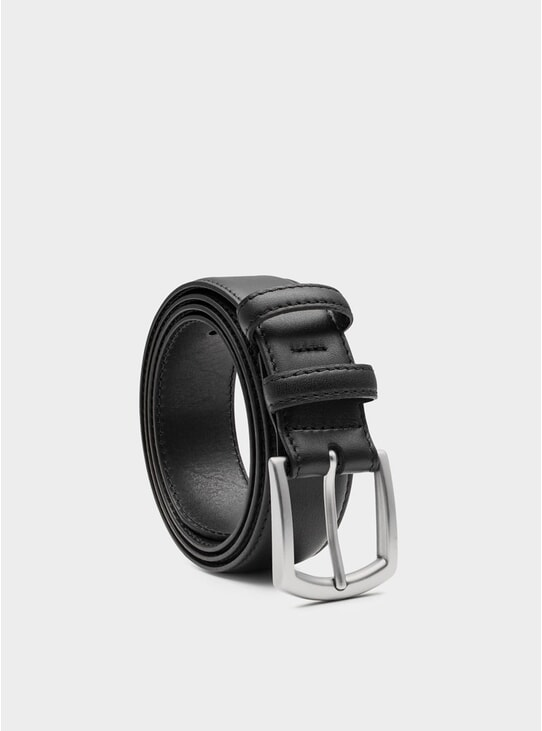 Black Fernando Leather Belt