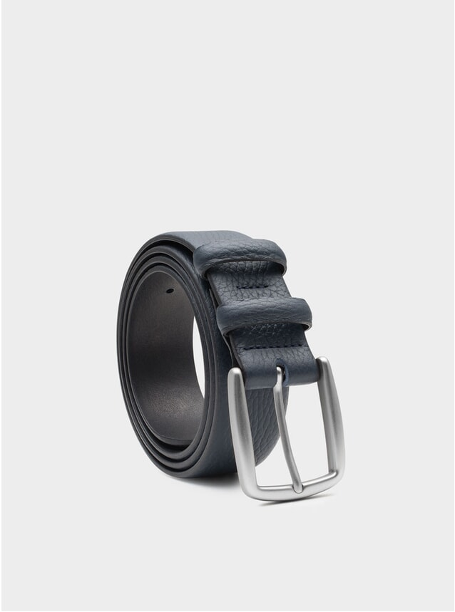 Blue Gaspard Leather Belt