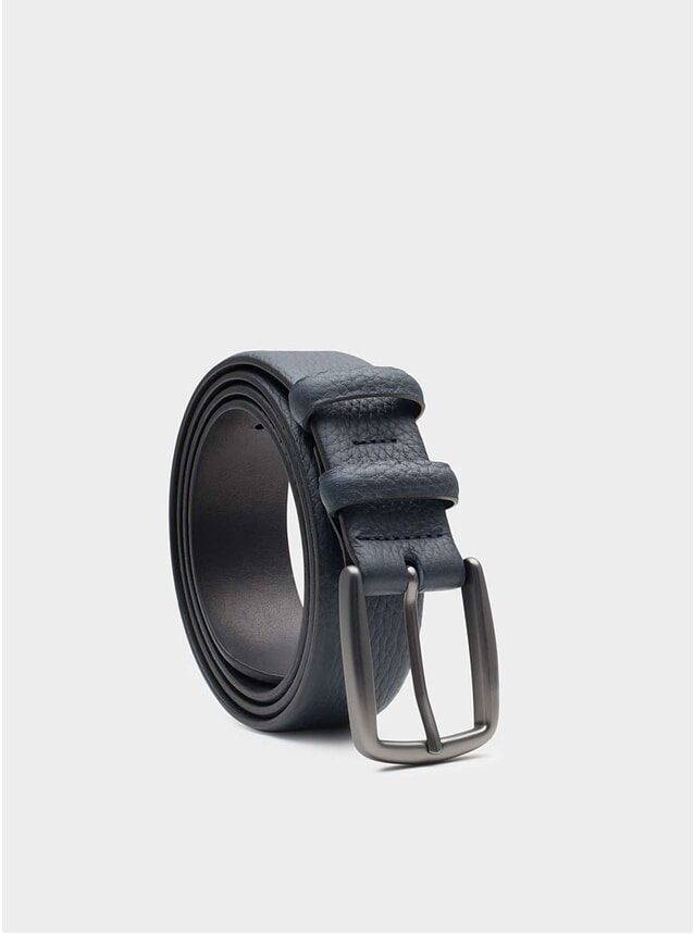Blue Rémy Leather Belt