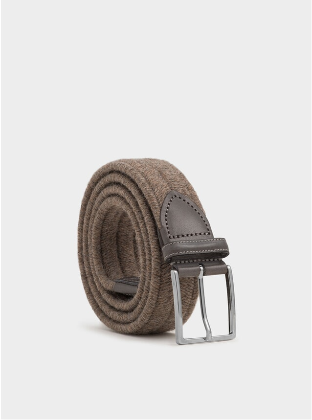 Brown Elasticated Wool Antonio Belt