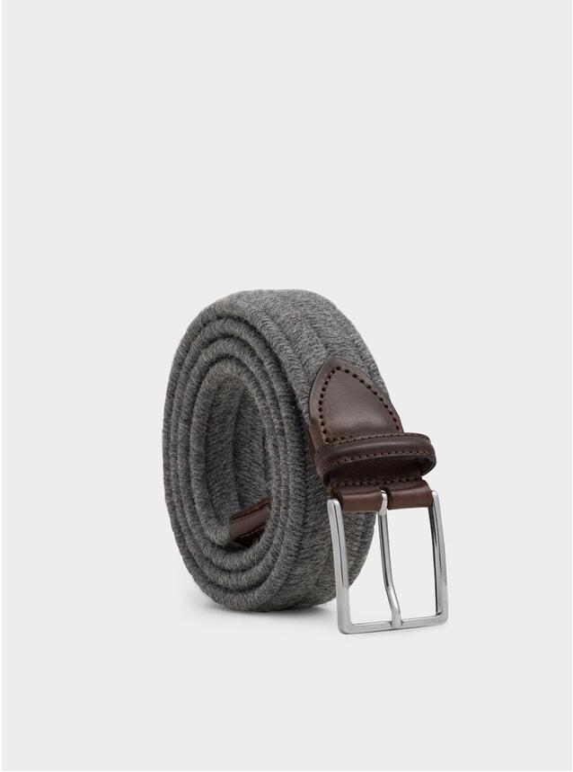 Grey Elasticated Wool Giovanni Belt