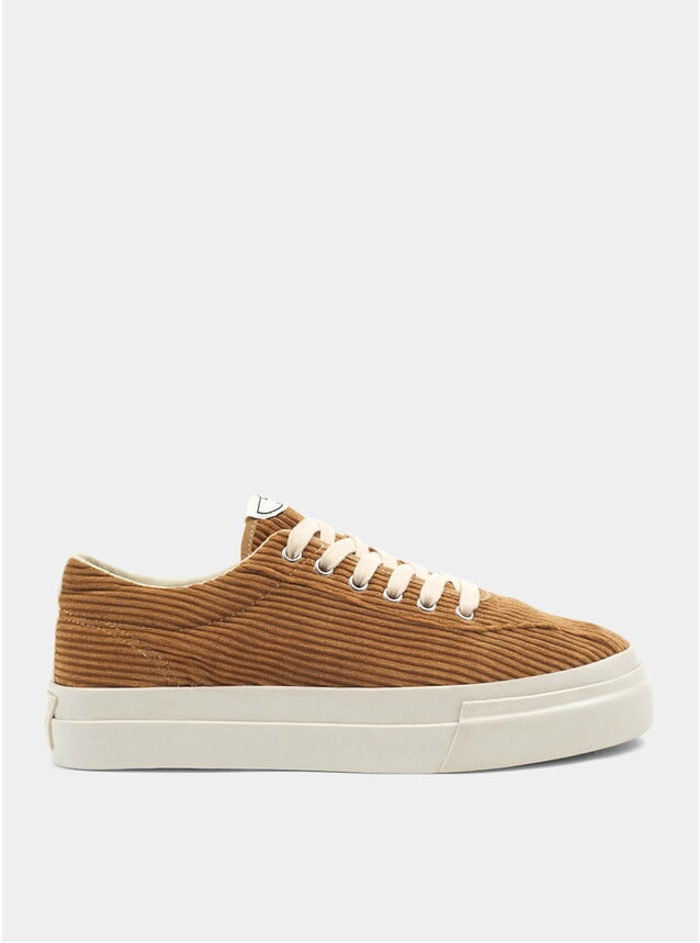 Tan Dellow Cord Sneakers