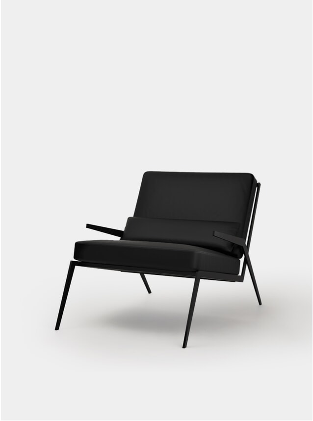 Black Leno Armchair