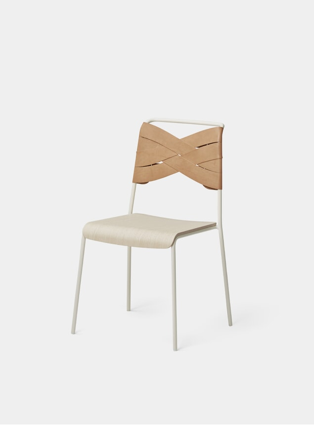 Ash / Natural Torso Dining Chair