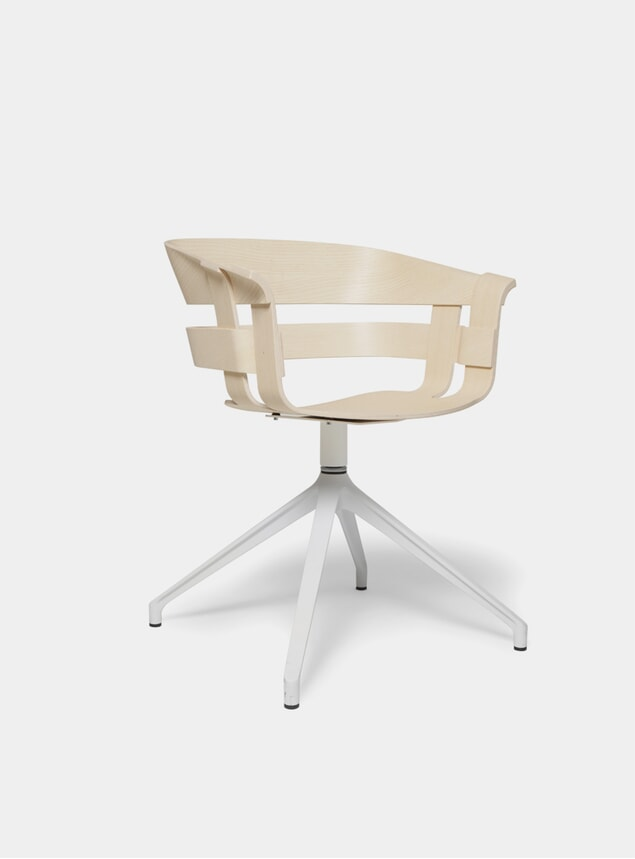 Ash Seat / White Stockholm Wick Swivel Chair
