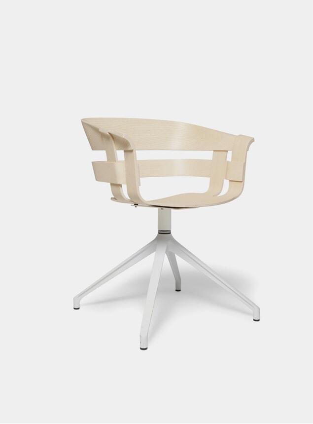 Ash Seat / White Stockholm Wick Swivel Chair