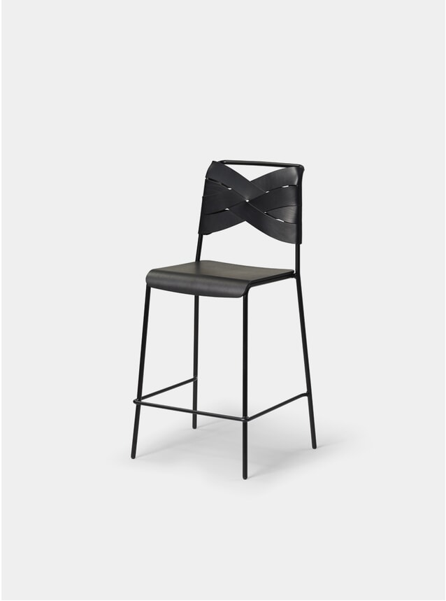Black / Black Torso Bar Stool