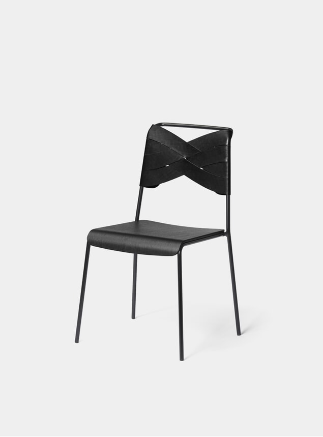 Black / Black Torso Dining Chair