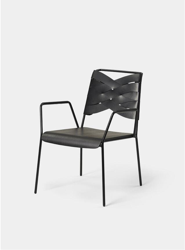 Black / Black Torso Lounge Chair