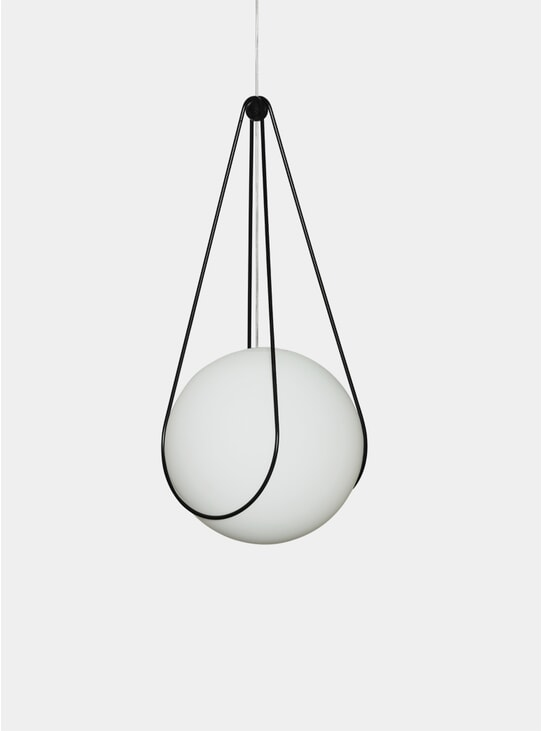 Black Kosmos Holder & Luna Pendant Lamp