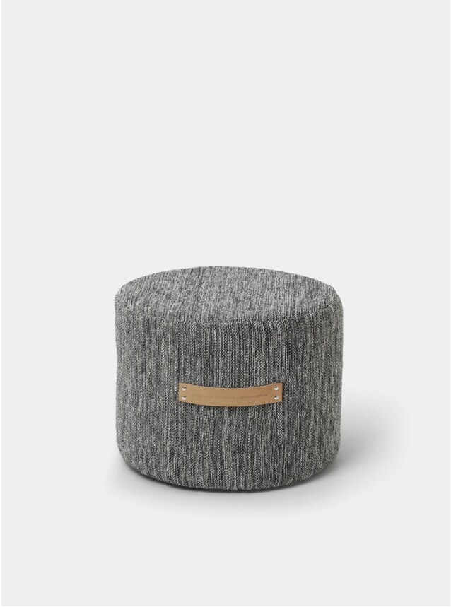Dark Grey Bjork Low Stool