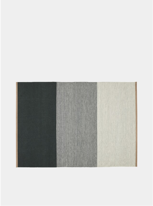 Large Green / Grey Fields Rug