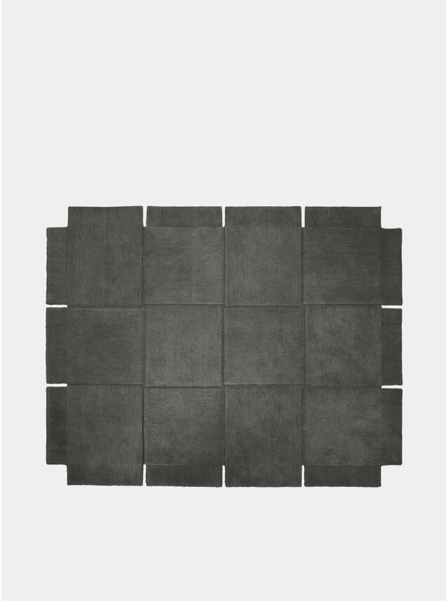 Medium Grey Basket Rug