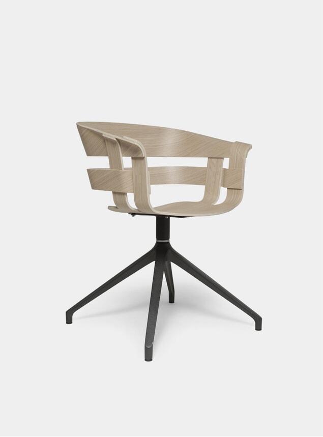 Oak / Dark Grey Stockholm Wick Swivel Chair