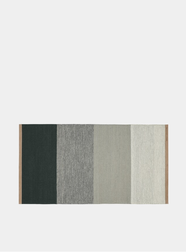 Small Green / Grey Fields Rug