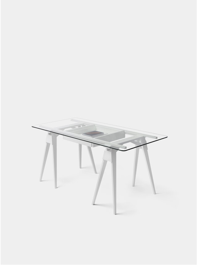 White Arco Desk
