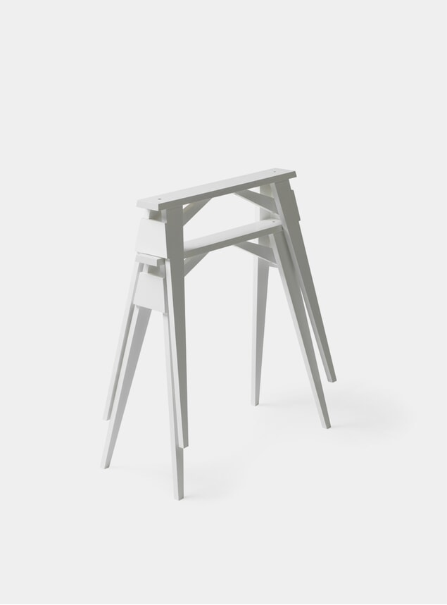White Arco Desk Trestles Set of 2