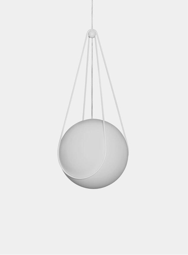 White Kosmos Holder & Luna Pendant Lamp