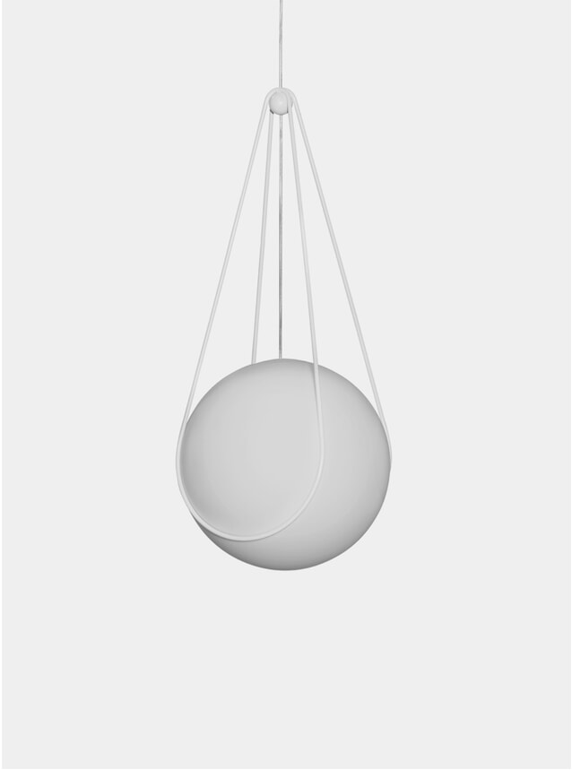 White Kosmos Holder & Luna Pendant Lamp
