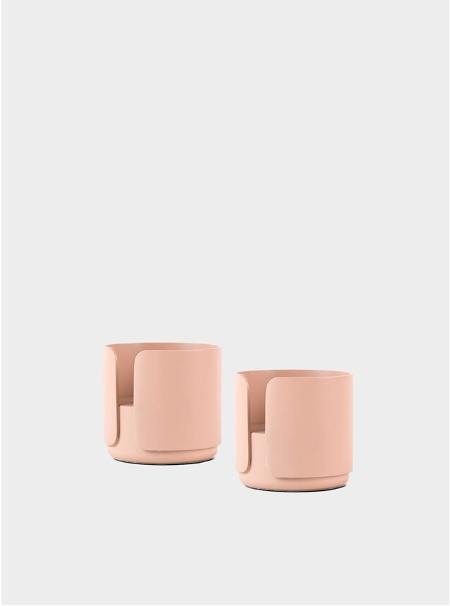 Blush Candle Holder Set