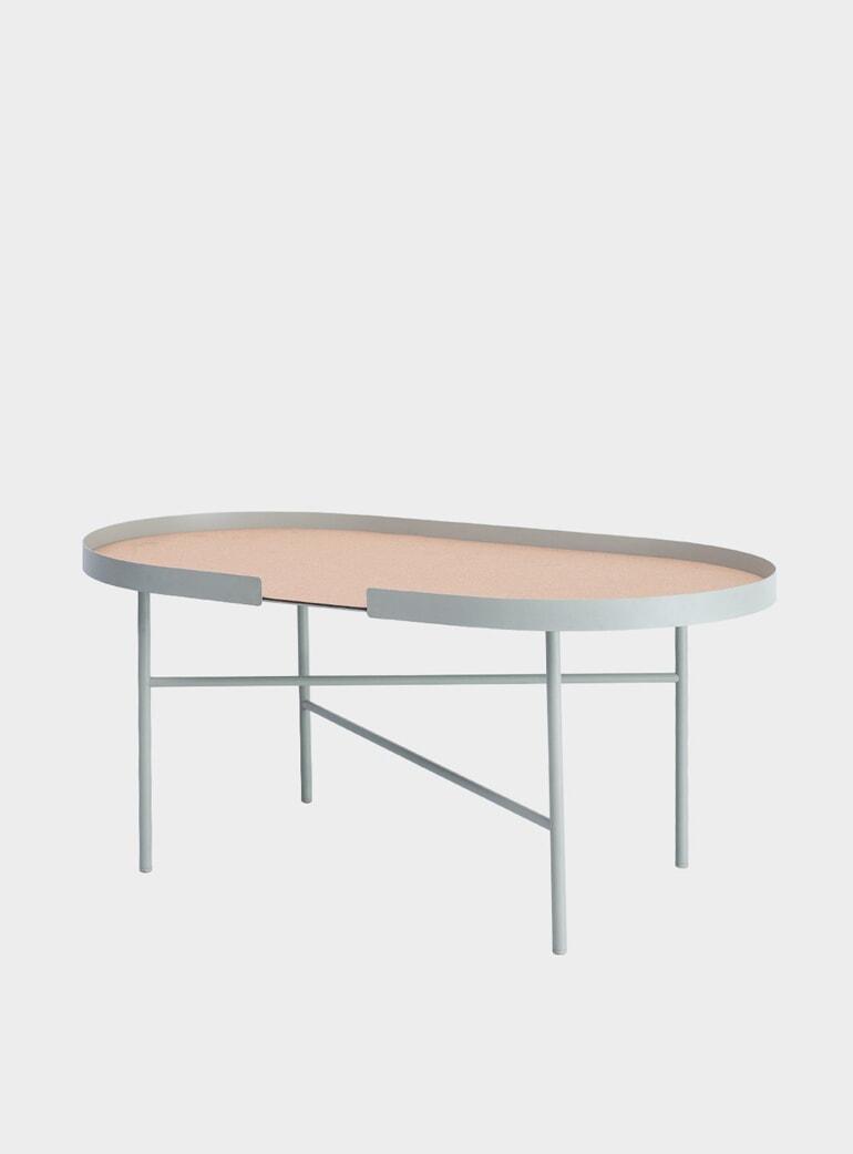 Bone Oval Low Coffee Table