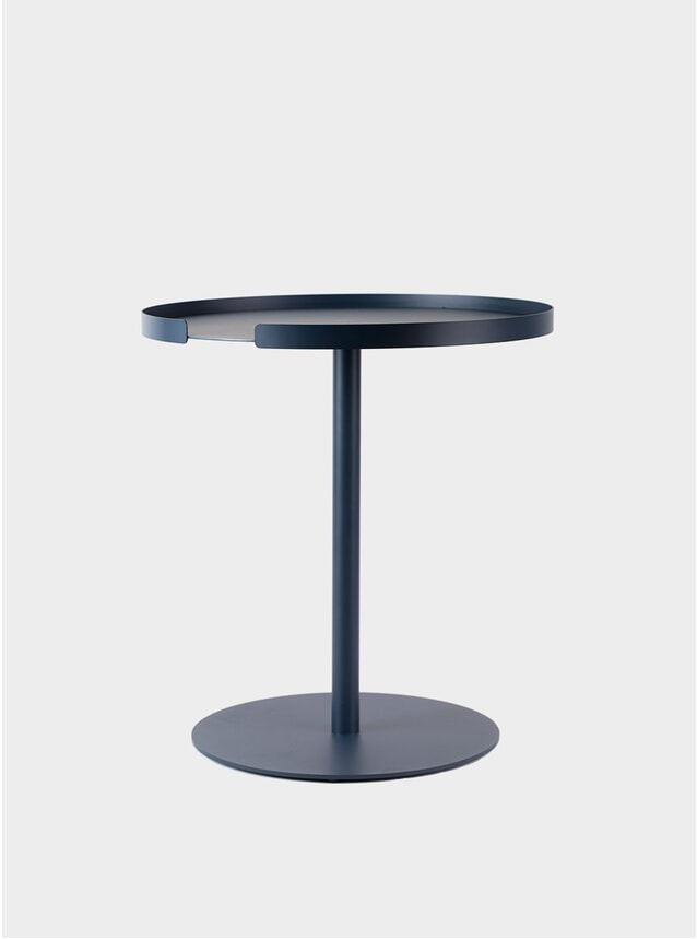 Midnight Blue Round Side Table
