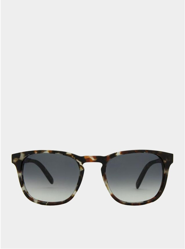 Grey Lenses / Matte Crystal Havana Marseille Sunglasses