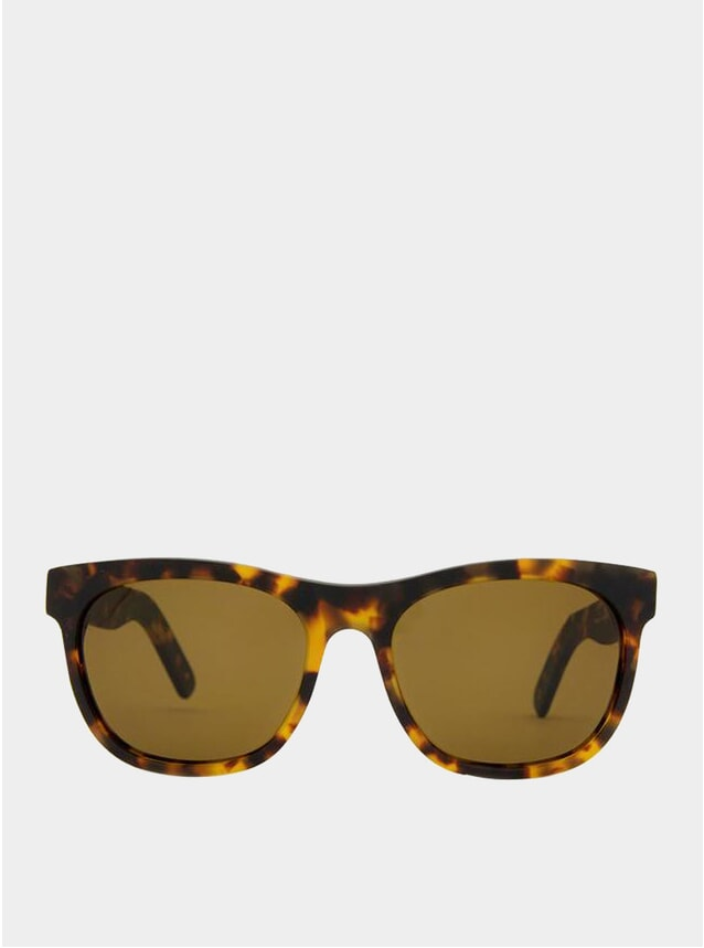 Matte White Havana / Brown Los Angeles Sunglasses