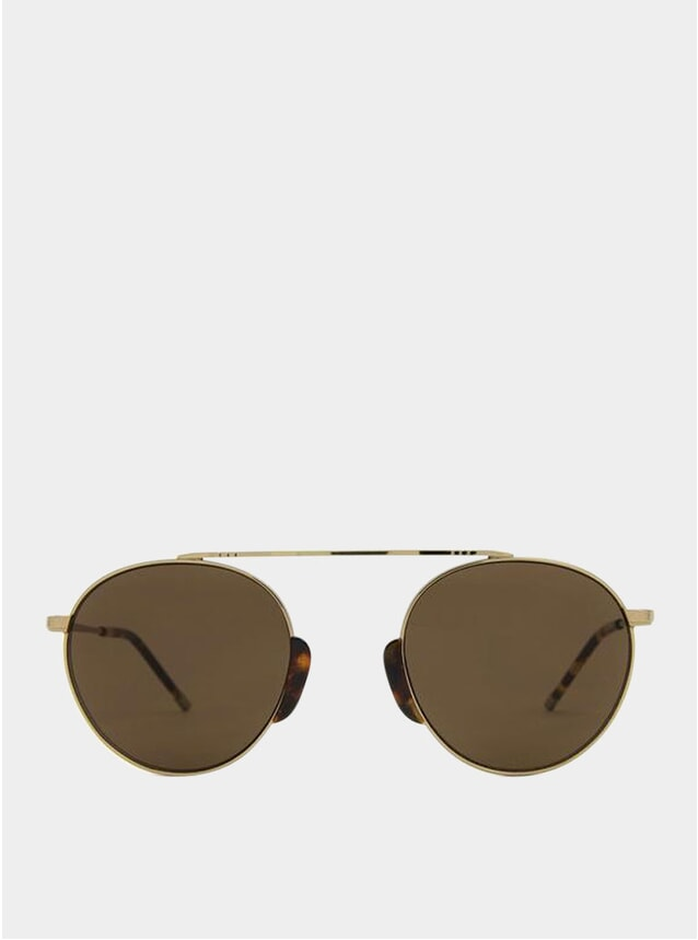 Black Shiny Gold / Brown Bern Sunglasses