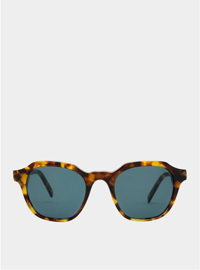 White Havana / Blue Barcelona Sunglasses